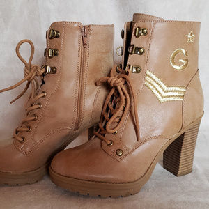 """G By Guess """"Bronson"""" Military Ankle Boots Wm 7.5"""